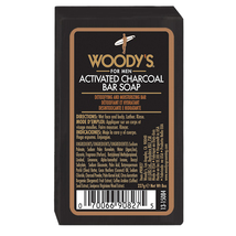 Woody's Activated Charcoal Bar Soap, 8 oz