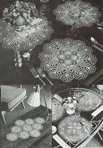 Pineapple Doilies Tablecloth Runner Luncheon Buffet Armchair Crochet Patterns  image 7