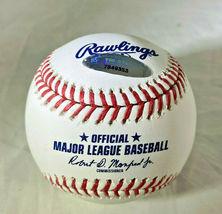 CAL RIPKEN JR / MLB HALL OF FAME / AUTOGRAPHED OML BASEBALL IN CUBE / TRISTAR image 2