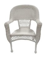 Pack of 2 White Resin Wicker Patio Dining Arm Chairs - $251.20