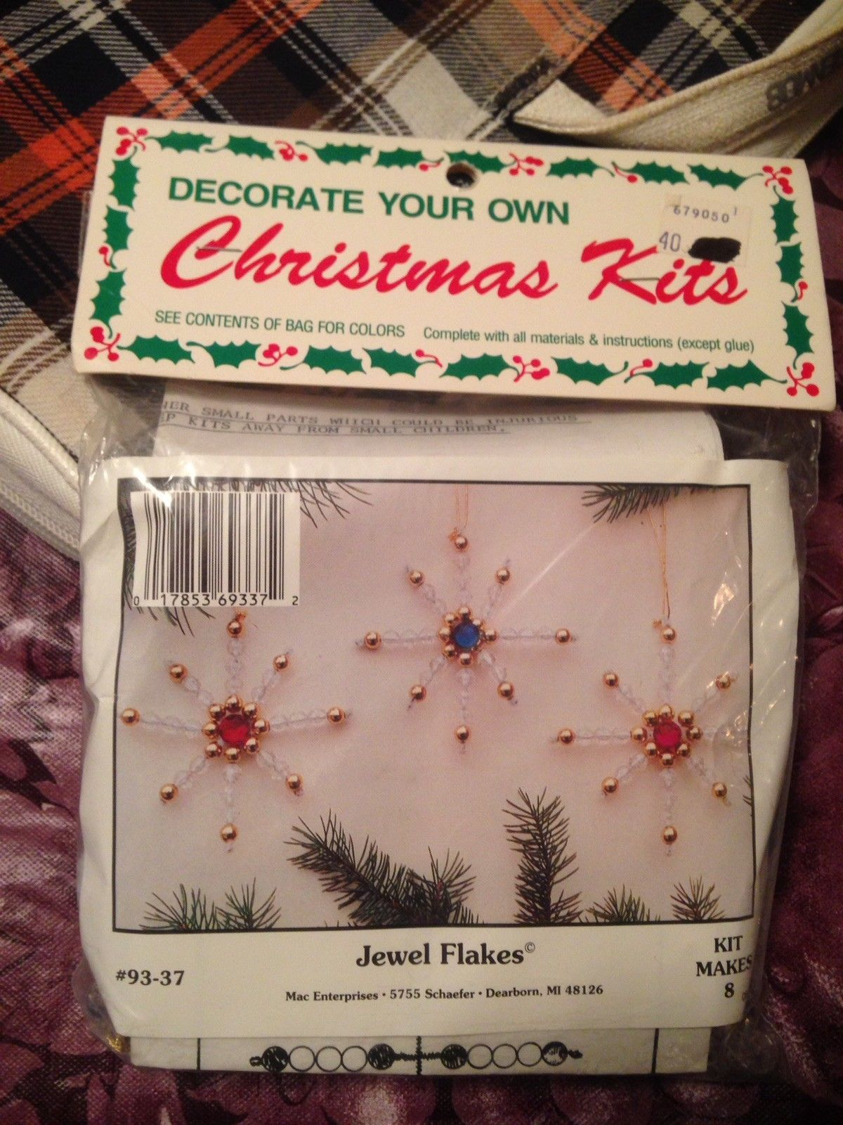 a3e0eaea1 Vintage Merri Mac Kit Jewel Flakes Ornaments and 50 similar items
