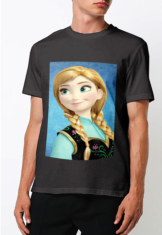 Disney frozen anna  t shirt men s black
