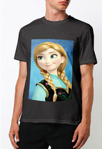 Disney frozen anna  t shirt men s black thumb200