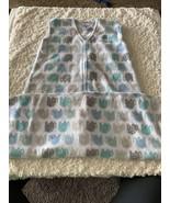 Halo SleepSak Unisex White Gray Teal Elephants Fleece XL 18-24 Months 26... - $13.08