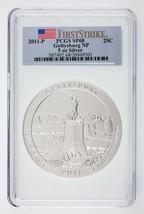 2011-P Atb 5 ML Argent Rond Gettysburg Np Classé par PCGS comme SP68 1st... - $197.77