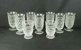 "9 Vintage Fostoria ""American"" Footed Juice Glasses / 7-5-1/2""H / 2-4""H - $34.64"
