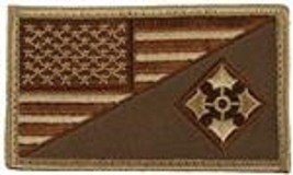 ARMY 4TH INFANTRY DIVISION DESERT FLAG 2 X 3  EMBROIDERED PATCH WITH HOO... - $17.14
