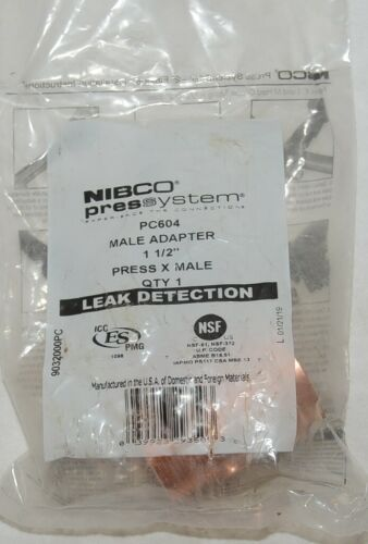 Nibco Press System PC604 Male Adapter 1 1/2 Inch Press X Male 9032000PC