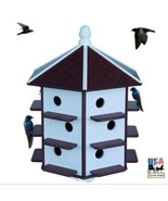 "18 Hole 32"" PURPLE MARTIN HOUSE - Weatherproof Recycled Poly in 4 Colors... - $349.97"