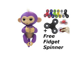 finger purple monkey with free fidget spinner,fingerlings,fidget spinner... - $20.00
