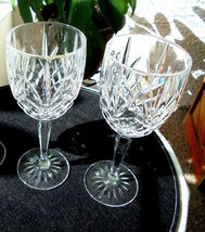"Set of 2 Cris D'Arques Provence Pattern Crystal Water Goblets 7 5/8"" Tall - $27.71"
