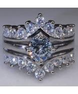 Cocktail Wedding Silver Color Cz Ring Sz 9 Unisex Fashion Jewelry New - $18.00