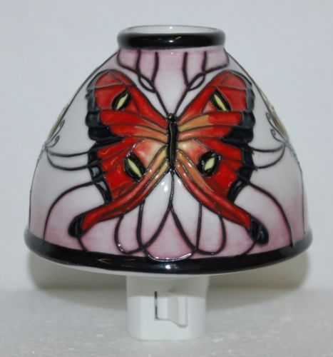Roman 161178 Floral Ceramic Butterfly Night Light 4 Inch
