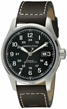 Hamilton Men's H70625533 Khaki Field Automatic Brown Leather Band 44mm Watch - $508.62
