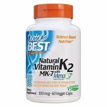 Doctor's Best Natural Vitamin K2 Mk-7 with Menaq7, Strengthen Bones, Non-GMO,... - $19.64