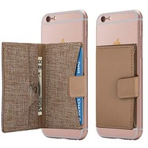 Cell Phone Card Holder Stick on Wallet Phone Pocket for iPhone, Android ... - $14.27