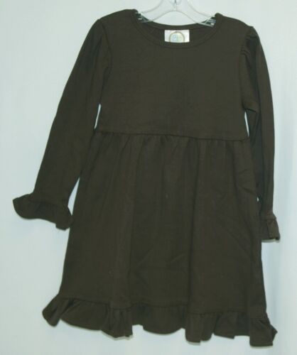 Blanks Boutique Long Sleeved Color Brown Ruffle Dress Size 3T