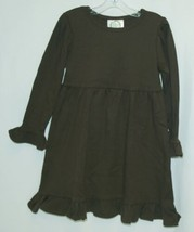 Blanks Boutique Long Sleeved Color Brown Ruffle Dress Size 3T image 1