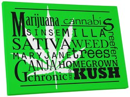 "Pingo World 0718QN4SQ6S ""Marijuana Wiki"" Gallery Wrapped Canvas Wall Art... - $43.51"