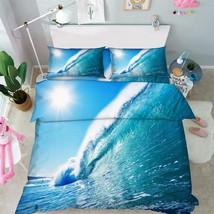 3D Sea Wave 027 Bed Pillowcases Quilt Duvet Cover Set Single Queen King Size AU - $90.04+
