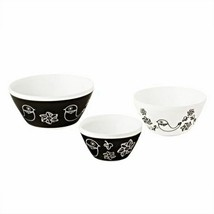 PYREX Vintage Charm Birds Of A Feather 3-Pc Mixing Bowl Set, NEW - $79.19
