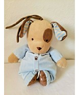 Carters Blue Brown Puppy Dog Musical Plush Stuffed Animal Rock a Bye Bab... - $32.85