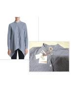 $99.00 Anne Klein Womens Gingham Button-Down Tunic Top; Blue/White/ size 6 - $17.08