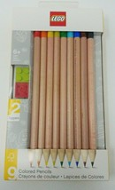 LEGO Stationery 9 Colored Pencils w/ 2 Brick Toppers  - $7.18