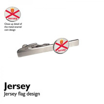 Jersey Flag official design flag design enamel finish,on silver tie clip in gift