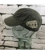Billabong Unisex One Size Hat Gray Khaki Distressed Army Patrol Cap 100%... - $14.84