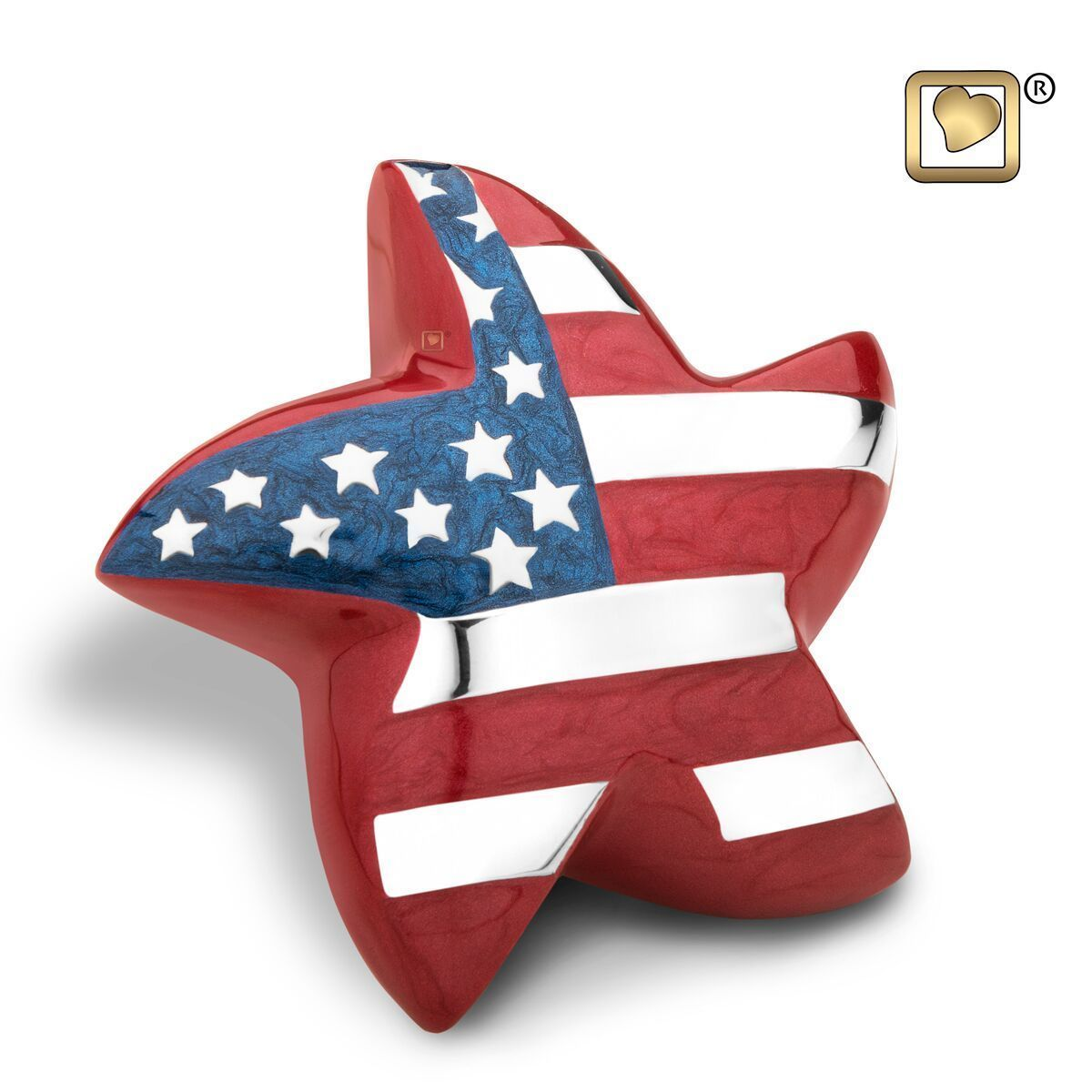 Stars & Stripes American Flag Adult Funeral Cremation Urn, 195 Cubic Inches image 3