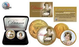 PRINCESS DIANA 1961-2011 50th Birthday 24K Gold USA 2 Coins  Half Dollar... - $17.21