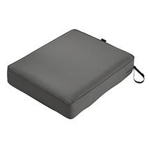 Classic Accessories Montlake Seat Cushion Foam & Slip Cover, Light Charc... - $42.49