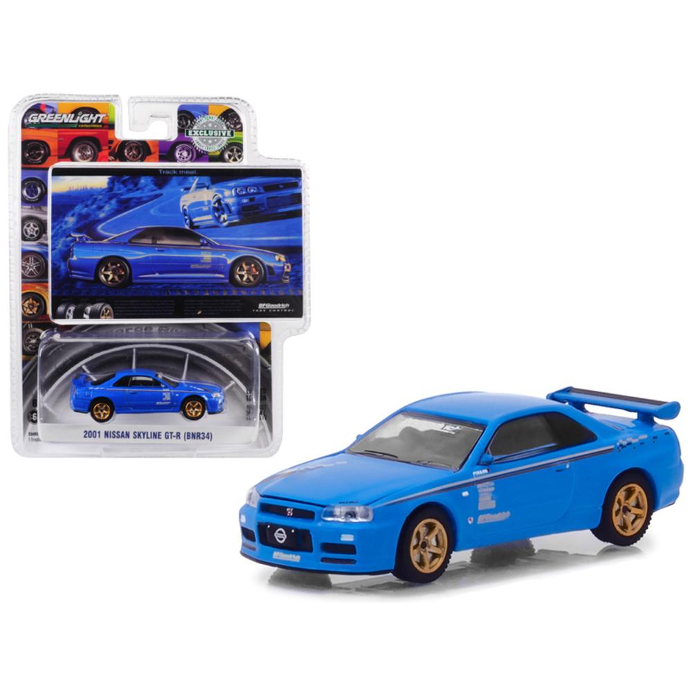 2001 Nissan Skyline GT-R (BNR34) Blue Track Meat BFGoodrich Vintage Ad Cars Hobb