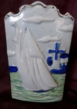 SHIP and WINDMILL WALL POCKET made in Japan Nautical ocean - $14.84