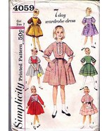 Vintage 1960's Girl's DRESS, APRON & WESKIT Pattern 4059-s Size 7 UNCUT - $12.00
