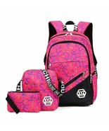 Children Girls Backpack 3PCS Set Canvas Print Fashion Teenagers Kids Sch... - $45.53