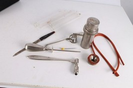 Antique Authentic Old Doctors Medical Metal Tools Equipment. - $150.58