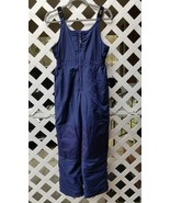 LL BEAN Kids Dark Blue Insulated Ski Snow Suit Overall Coverall Pants 16 - $66.82