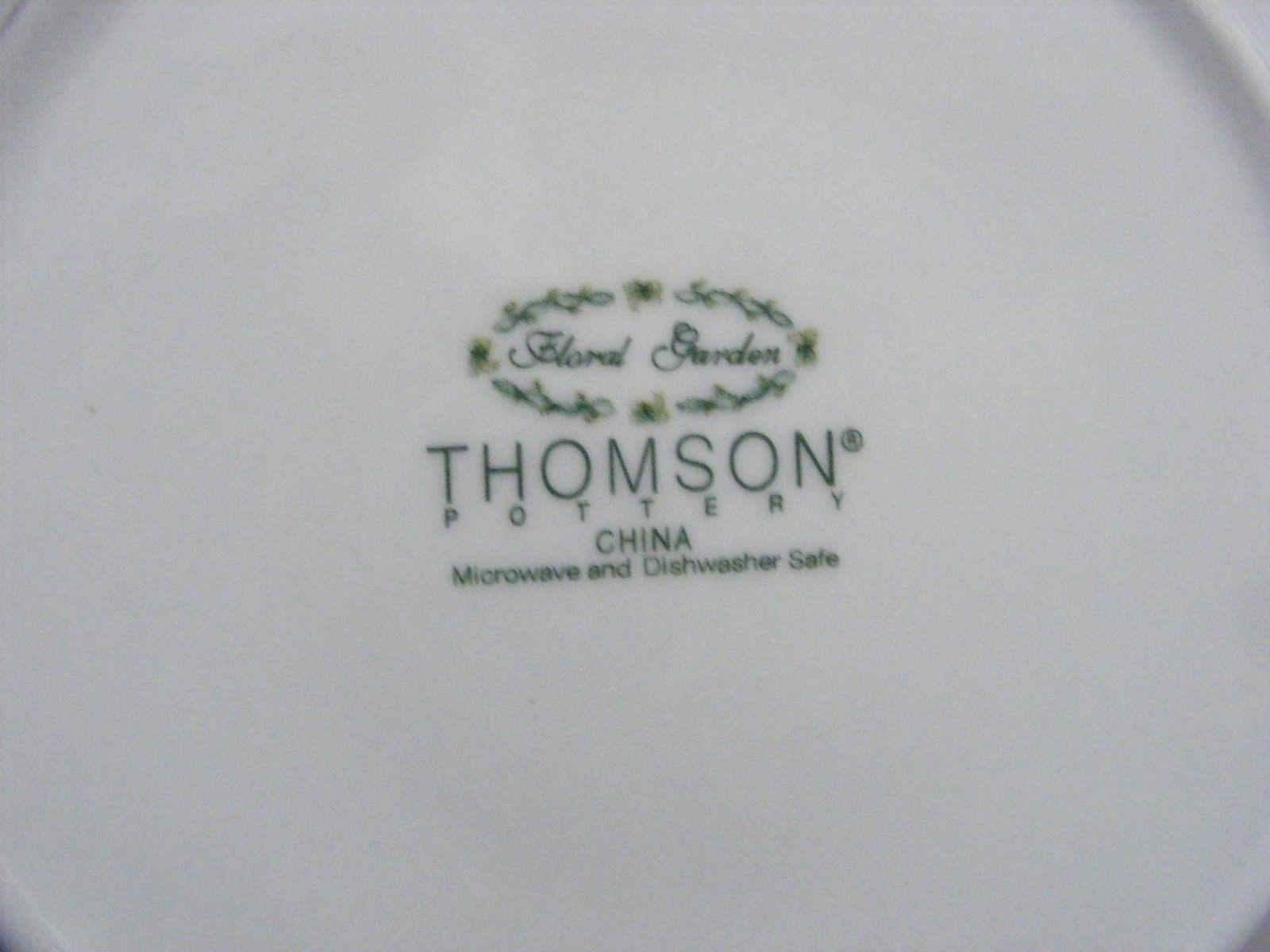 "Thomson Floral Garden 7.5"" Salad Plate  Blue Irus Flowers"