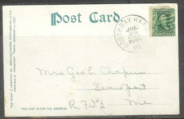 1906 Booth Bay Harbor Maine (July 25) - 1 cent Franklin on picture post ... - $4.00