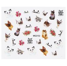 HS Store - 1Pcs WG-2152 Animal Designs Nail Sticker Water Transfer DIY - $2.23