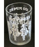 Seagram's 100 Pipers Scotch Shot Glass, Clear/White Design - $7.75