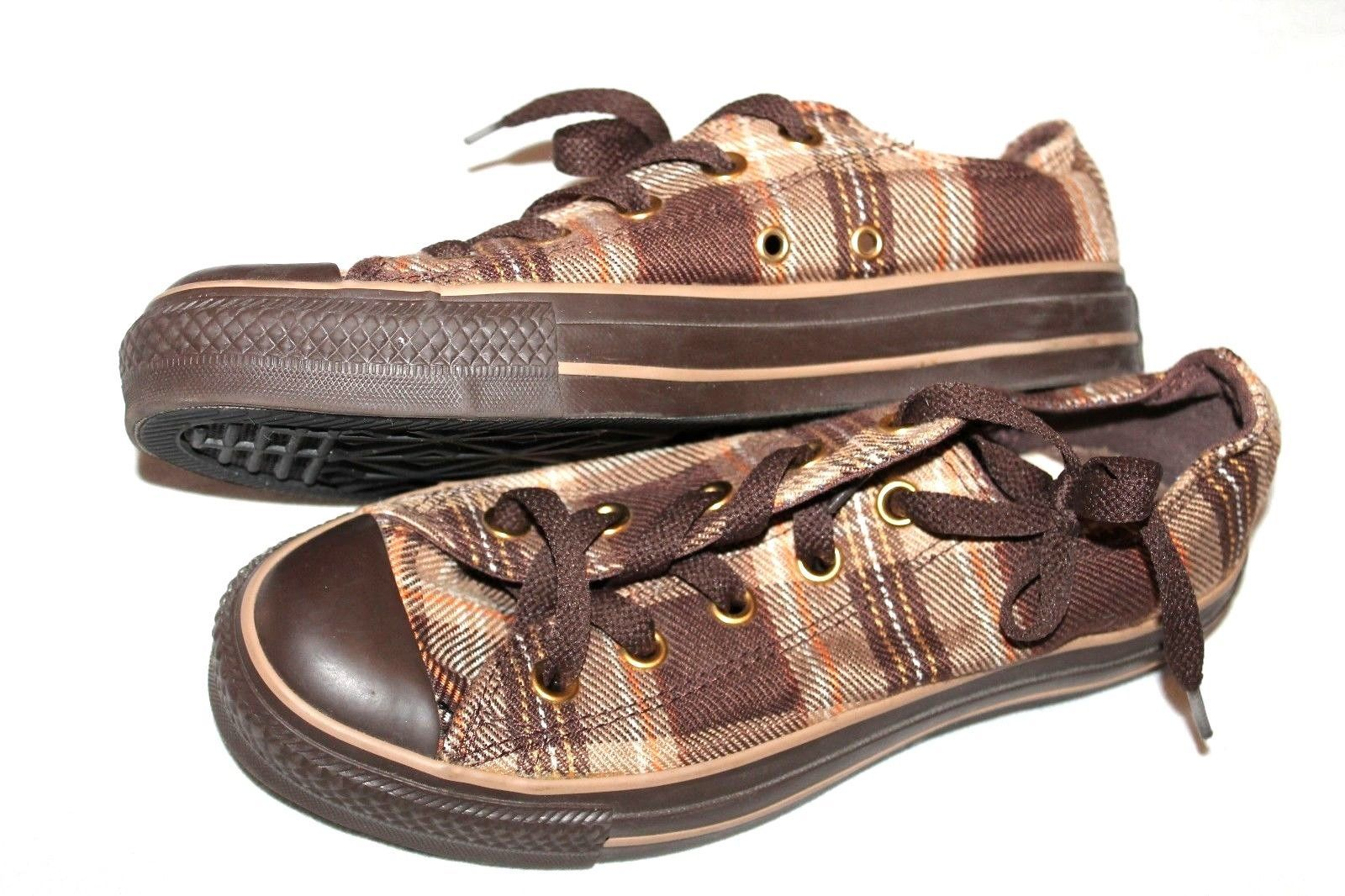 5ac423738a2 57. 57. Previous. Converse Chuck Taylor All Star Brown Plaid Low-Top  Sneakers ...