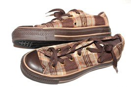 Converse Chuck Taylor All Star Brown Plaid Low-Top Sneakers SIZE WO'S 6  Men's 4 - $32.67