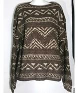 Ralph Lauren Polo Sport Wool Silk Fair Isle Aztec Brown Crewneck Sweater... - $49.49