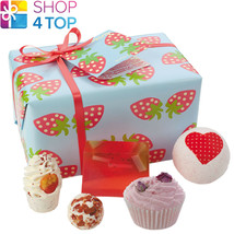 Strawberry Patch Gift Pack Bomb Cosmetics Strawberries Vetiver Handmade Natural - $18.80