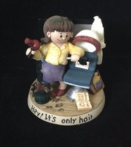 """Zingle-Berry """"Hey it's only Hair"""" Resin Figurine hair stylist gift - $24.74"""