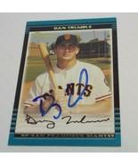 Dan Trumble Signed 2002 Bowman Autographed San Francisco Giants - $3.99