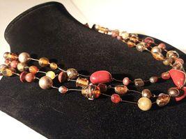 Unique 3 Strand Treasure Necklace w/ Pearls Stones Murano Glass and MUCH MORE! image 6
